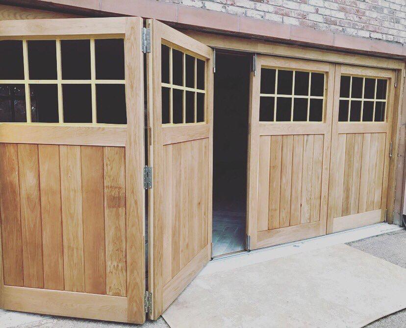 Bespoke Solid Oak Bi Fold Garage Doors Which Will Lead Into The