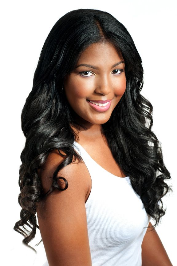 Model Wearing The Fabulous Priv Wavy Extensions Indian Virgin