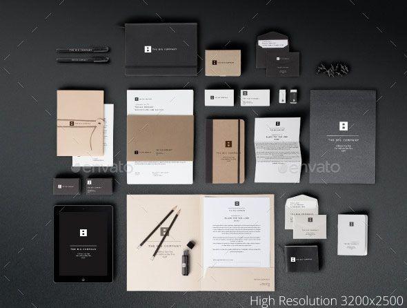 Free Photo Realistic Modern Branding Identity Mockups