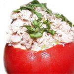 tomato stuffed with tuna