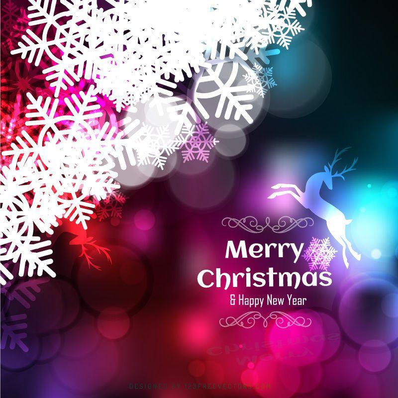 Colorful Christmas Background Design.Shiny Christmas Colorful Background With Snowflake And