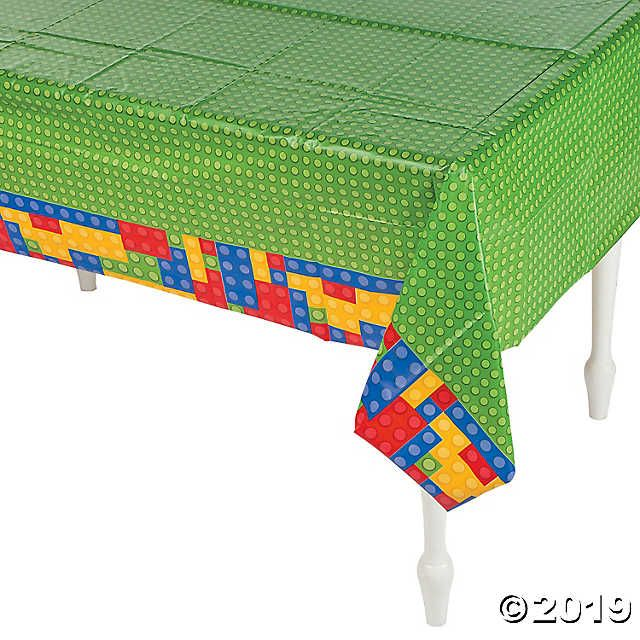 Color Brick Party Plastic Tablecloth Oriental Trading Lego Party Supplies Party Table Cloth Lego Party