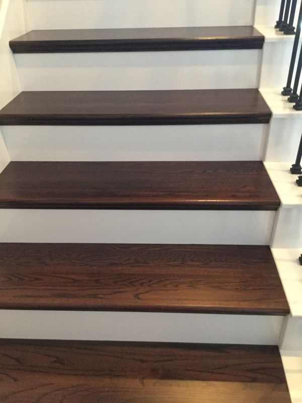 Diy wood plank stairs basements wood planks and diy wood finished our stairs very pleased with it diy hardwood floors stairs solutioingenieria Choice Image