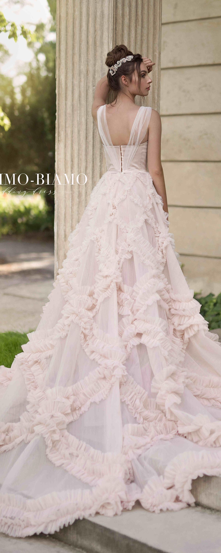 Unique wedding dress NOEL, bohemian wedding dress, tulle wedding ...