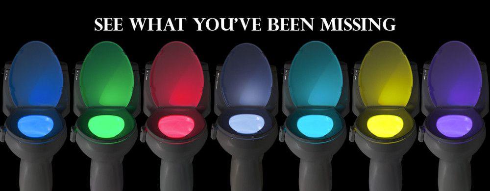 Led Bathroom Night Light the glowbowl led motion activated bathroom & toilet night light