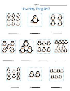 math worksheet : counting penguins worksheet  maths ideas  pinterest  penguins  : Penguin Worksheets Kindergarten
