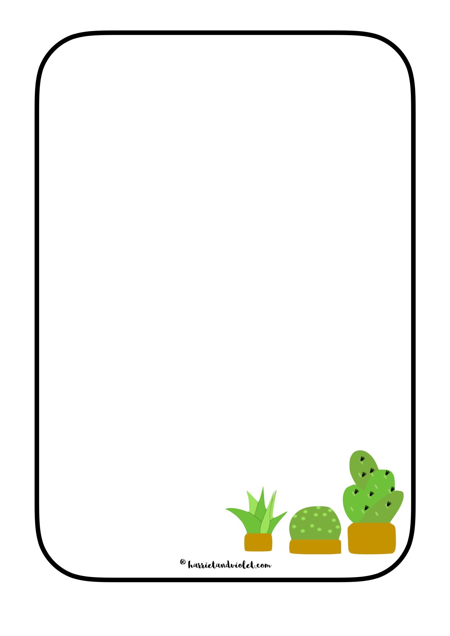 Cactus Plant Border Paper - Free Teaching Resources | Alycia shower