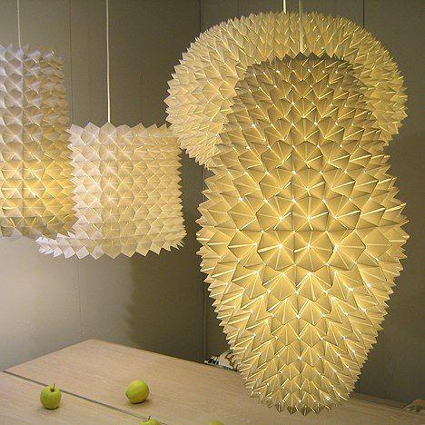 origami lamps origami pinterest origami luminaire et abat jour. Black Bedroom Furniture Sets. Home Design Ideas