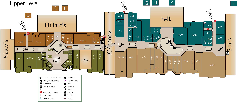 Hanes Mall Directory Map Mall Dillards Macys
