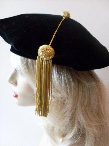 Vintage Harvard Graduation Hat Gold Tassel by