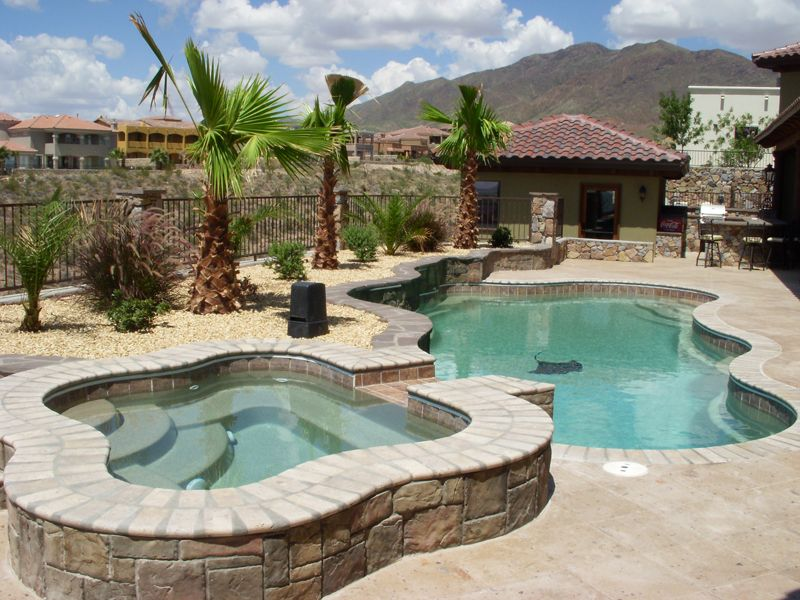 Fiberglass Pool Ideas backyard landscaping ideas swimming pool design Pool Spa
