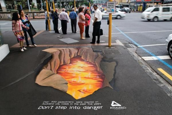 Pedestrian Safety: Fire | #public #safety #floor #streetbranding #chalk #ground #belowtheline #creative #viral #guerillamarketing #guerilla #btl < found on www.coloribus.com pinned by www.GuerillaMarketing-Hamburg.de a subsite of www.BlickeDeeler.de