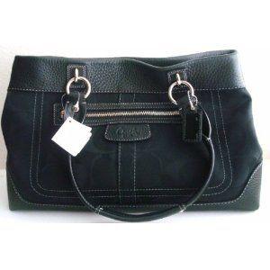 Authentic Coach Penelope Signature Per Satshel Tote Bag 14422 Black Arel Handbags Off