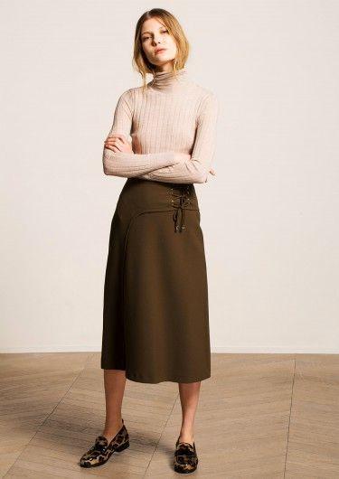 Jupe Skirts Kaki Midi Longueur Pinterest Kaki r7qPzxv1r