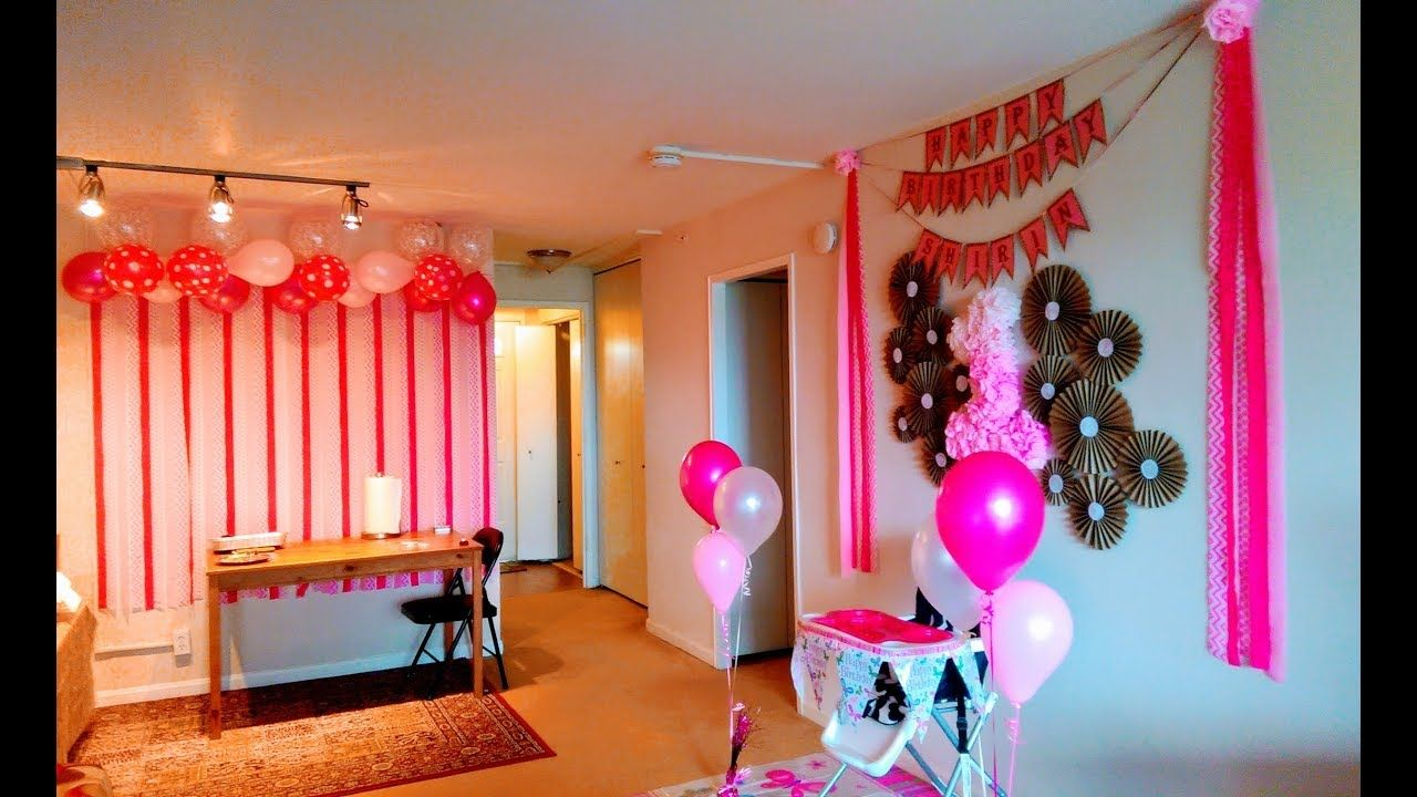 DIY First Birthday Decoration Ideas at Home YouTube diy