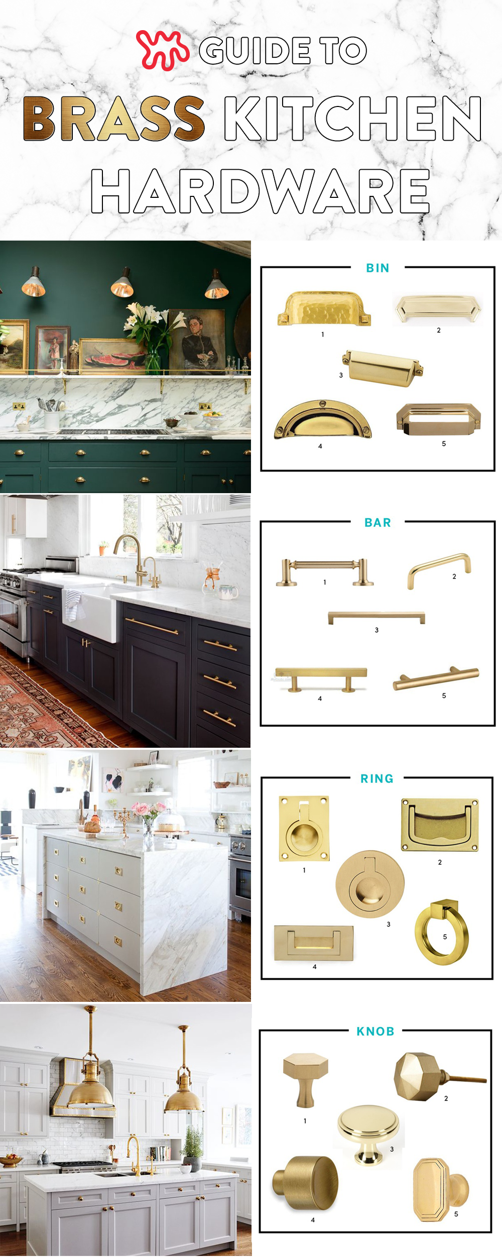 Looking To Update Your Kitchen With Brass Hardware? Letu0027s Take A Look At  Four Main Categories: Bin Pulls, Bar Pulls, Ring Pulls And, Of Course, Knobs .