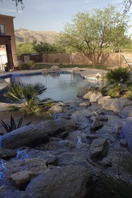 Looks Like A Small Native Pond With The Steambed Pouring Water Into The Pool Featured Outdoor