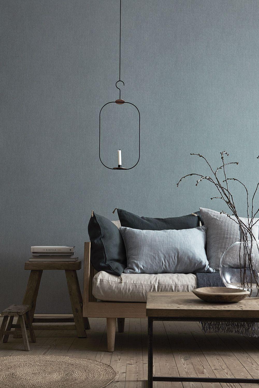 Innenarchitektur wohnzimmerfarbe boråstapeter linen u linnekänsla på väggen  grey  pinterest
