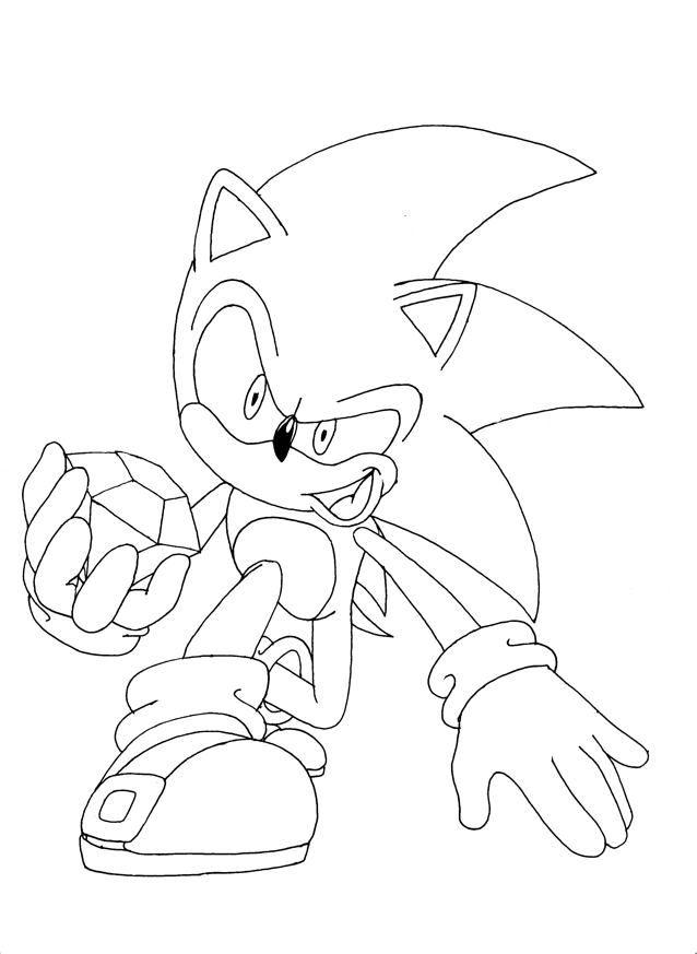Free Coloring Pages Of Sonic The Hedgehog Photos