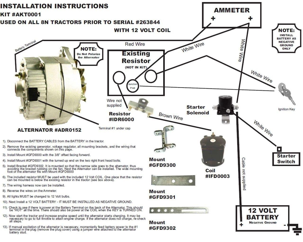 8n 12 Volt Wiring Diagram Elegant In 2020 Alternator 8n Ford Tractor Ford Tractors