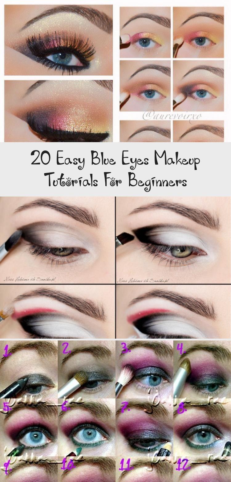 20 Easy Blue Eyes Makeup Tutorials For Beginners Golden Eye