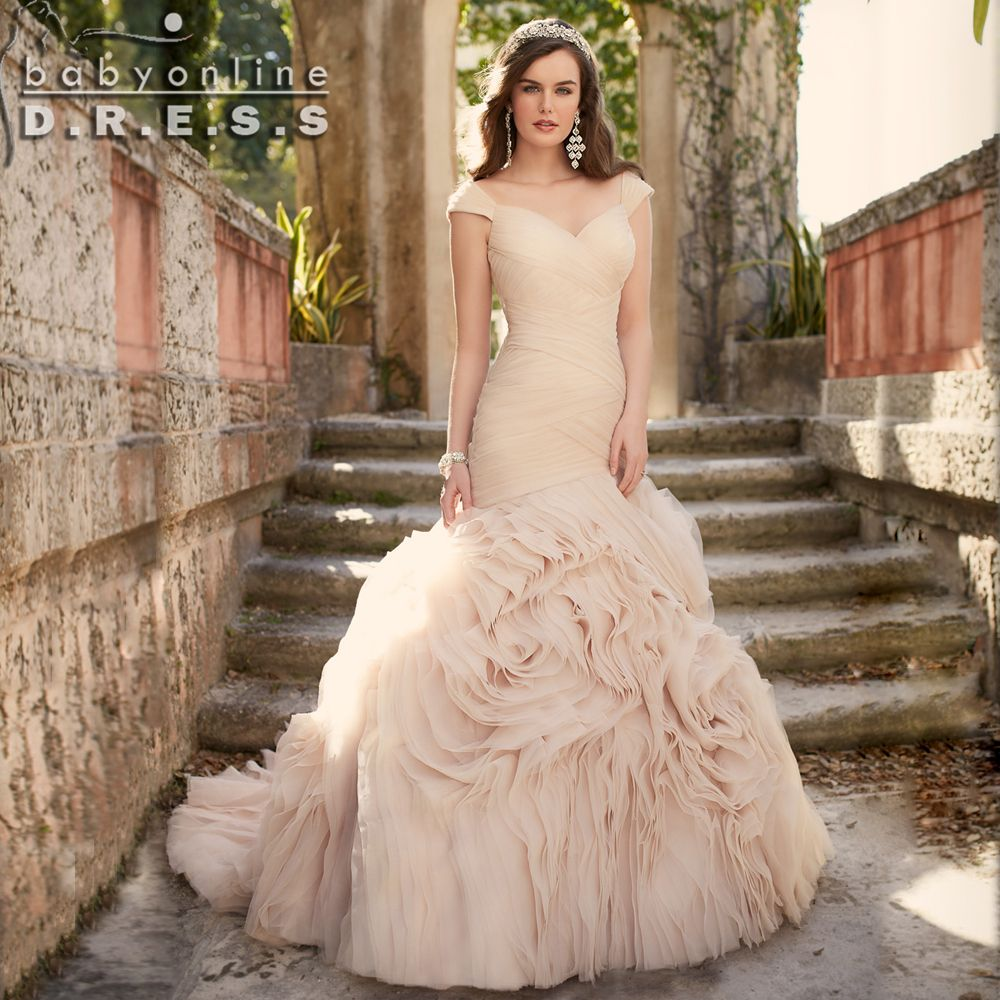 Cheap dress up plain dress buy quality dress barn dress directly from china dress with net sleeves suppliers vintage mermaid wedding dresses 2016 robe de mariee blushchampagne ruffles skirt plus size wedding ombrellifo Choice Image