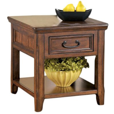 Darby Home Co Mathis End Table With Storage Wayfair End Tables With Drawers End Tables Ashley Furniture