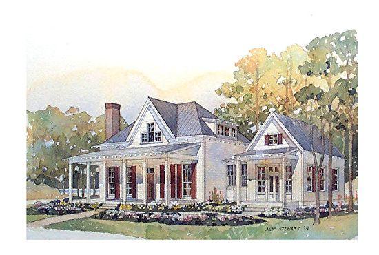 Coastal Living 5 Cottage Style House Plans Southern House Plans Cottage House Plans