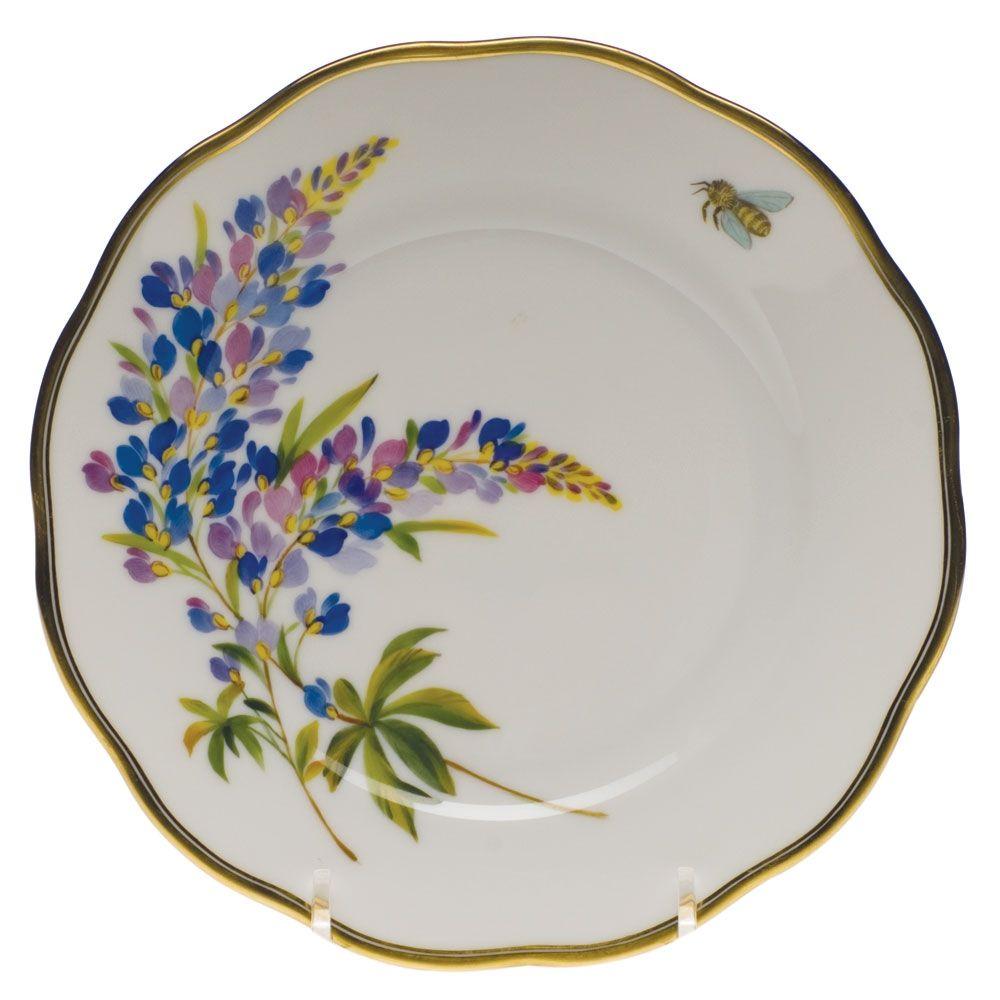Herend American Wildflowers Texas Bluebonnet Bread Plate | Platos de ...