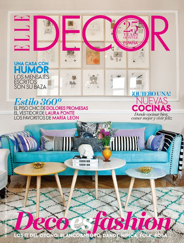 portada revista elle decor - Revistas De Decoracion