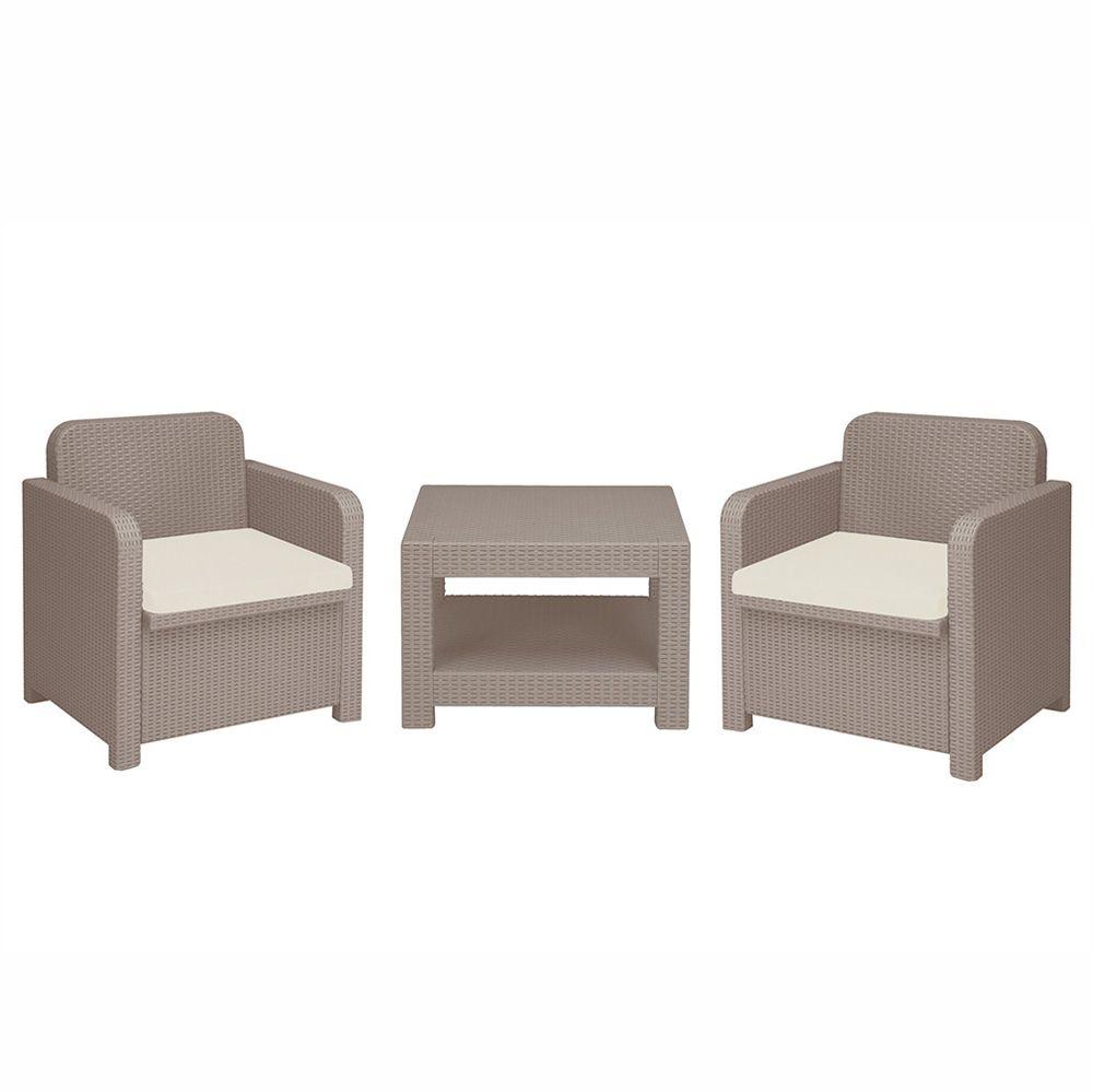 salon pour exterieur jardin fauteuils grand soleil giglio bar poly rotin synthetique 2 places