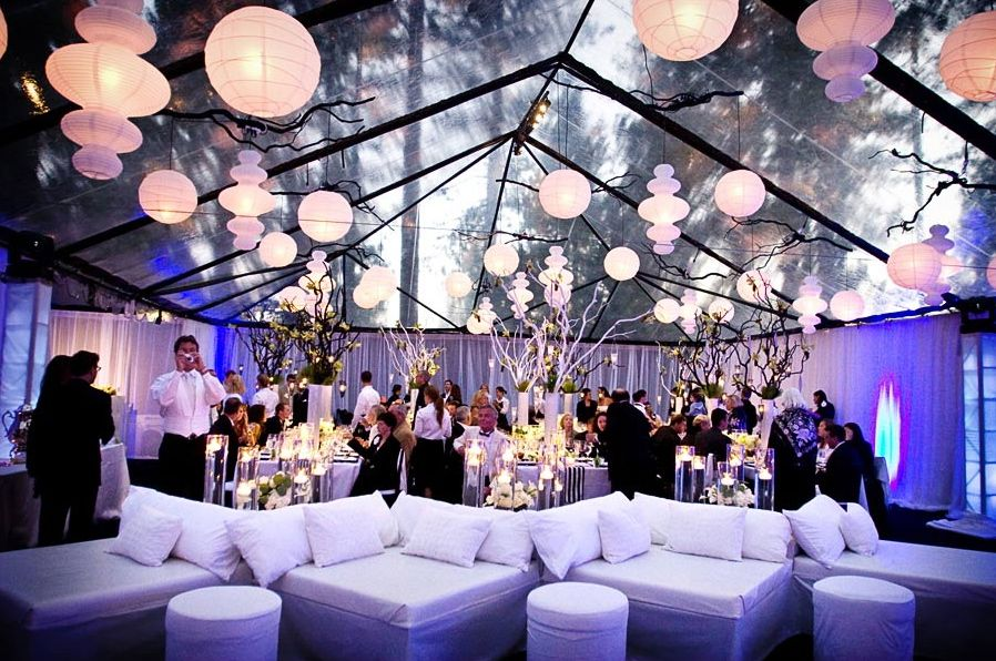 Wedding Tent Decoration Ideas - Paper Lanterns and lounges - Sanja & weddings | Six Tent Styling Ideas - WeddingWire: The Blog ...