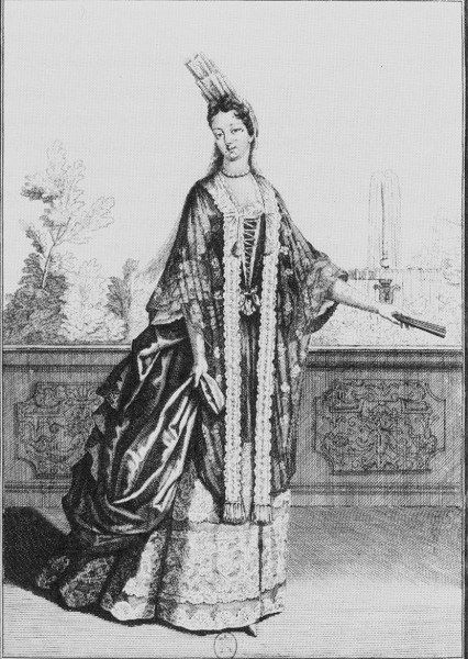 Duchesse Roquelaire, 1695. French duchesse_roquelaire_1695.jpg (426×600)