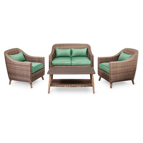 Attrayant Threshold™ Mayhew 4pc All Weather Wicker Convo Set