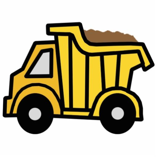 Cartoon Clip Art With A Construction Dump Truck Cutout Zazzle