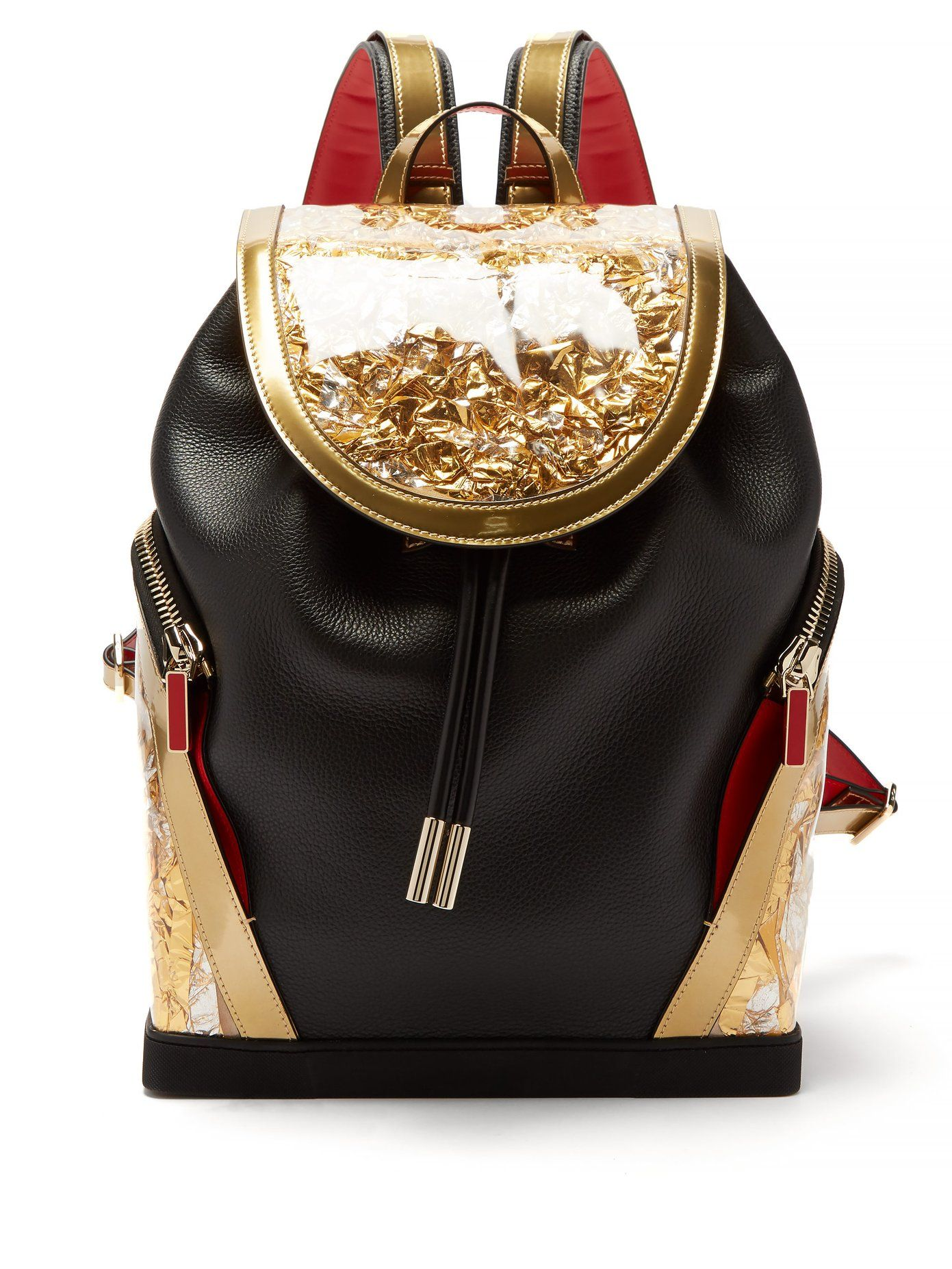 99757a7c Explorafunk contrast-panel leather backpack | Christian Louboutin ...