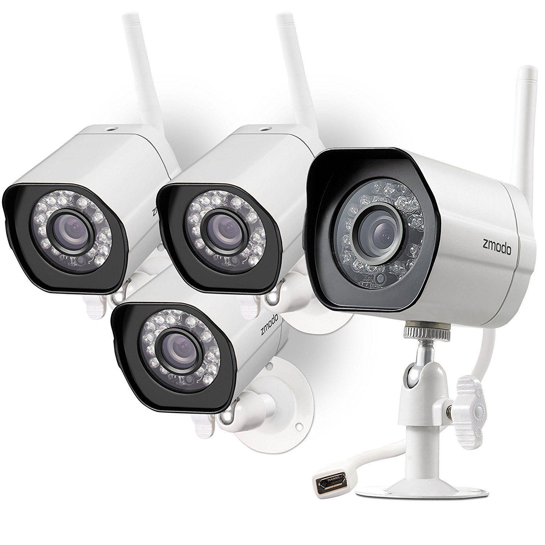 Zmodo Smart Wireless Security Cameras- 4 Pack- HD Indoor/Outdoor ...