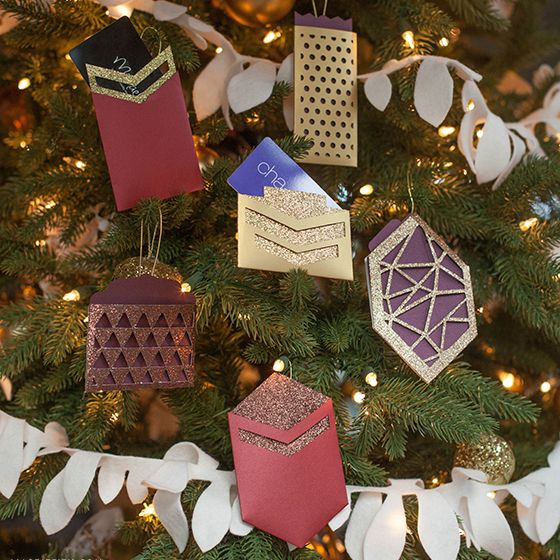 Make A Pretty Gift Card Holder Ornament Ornament Xmas And