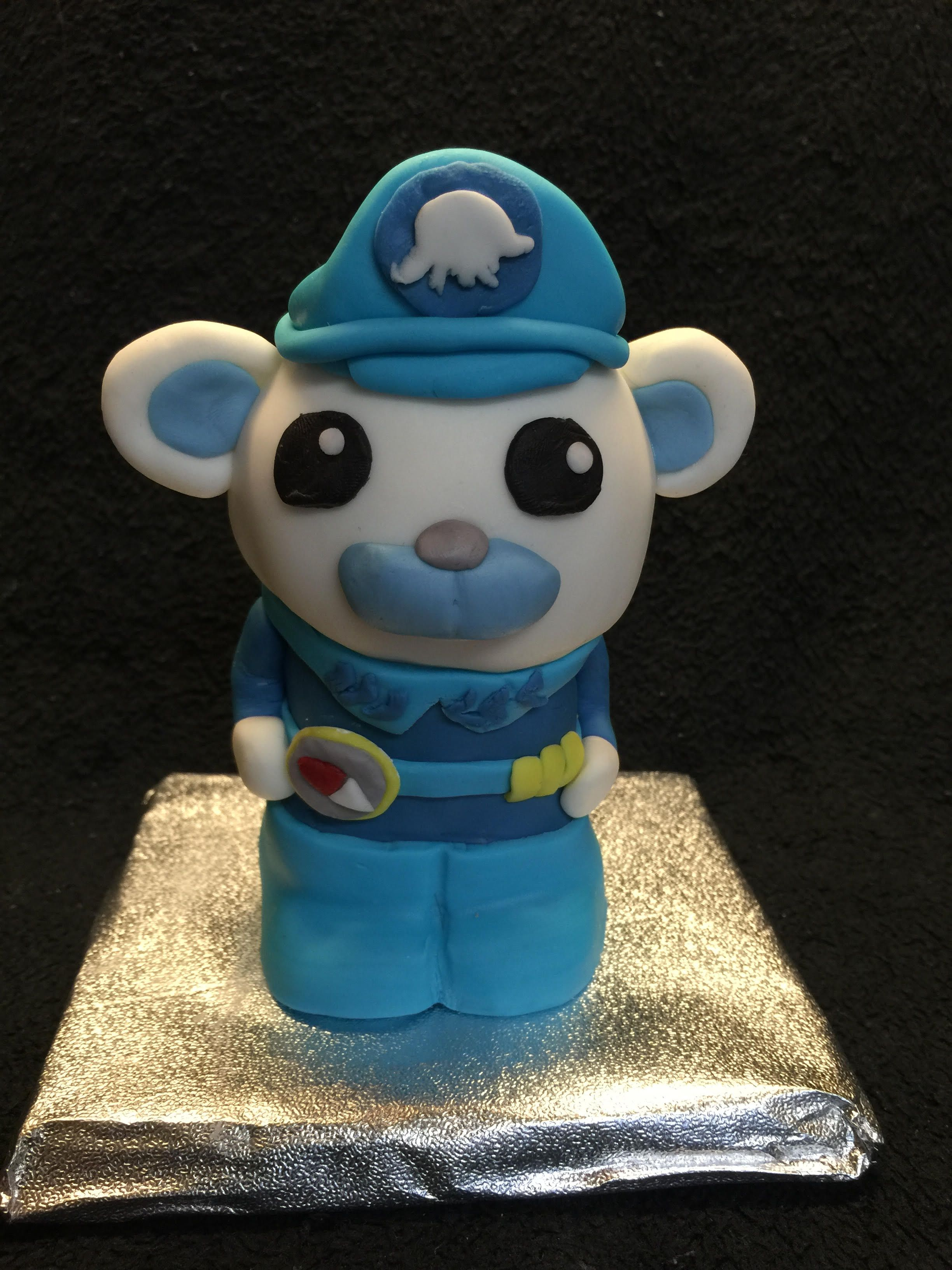 I made this Rice Krispie Treat Octonaut for my Sister-in-laws school class.