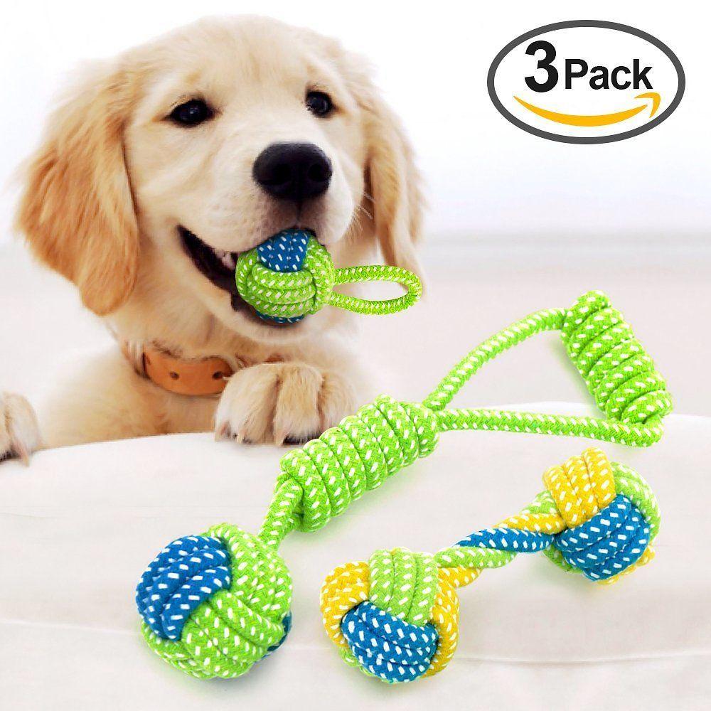 Amazon Offers Vizpet Dog Rope Toys Puppy Training Chew Teeth