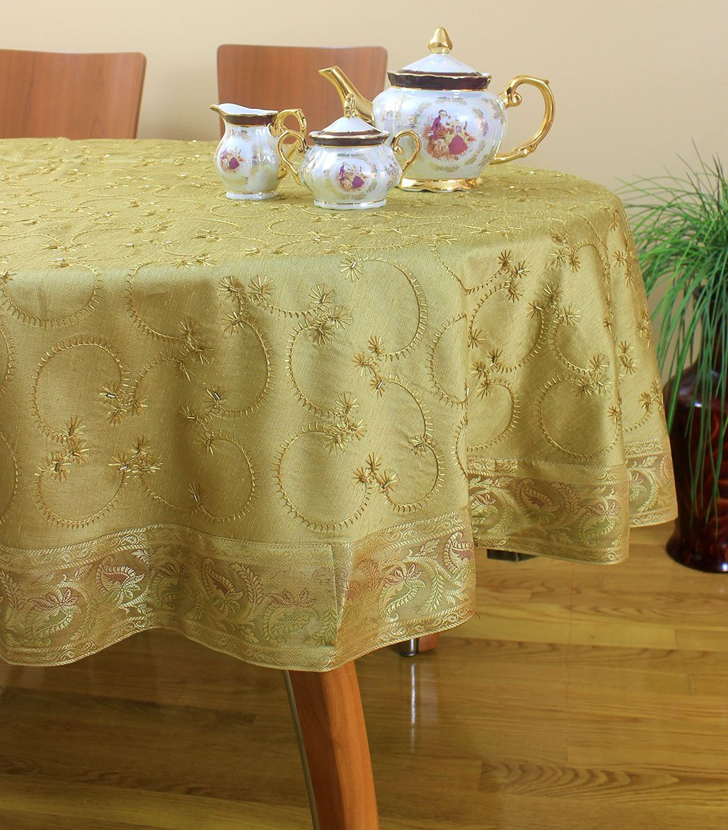 #TableCloth #TableMats #TableRunner #TableLinen Buy Cotton Toda Embroidered  Table Linen, Table