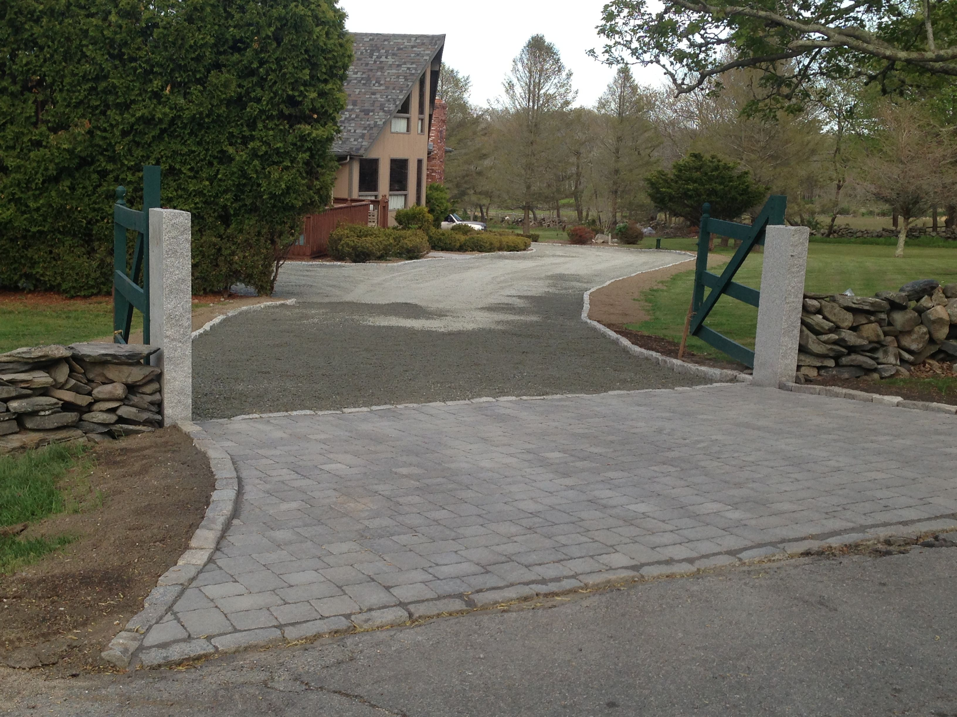 Pin By Susie B On Home Ideas Paver Driveway Driveway Apron Backyard Patio Designs