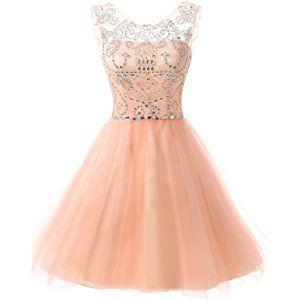 6479477e535 Belle House Women s Short Tulle Beading Homecoming Dress Prom Gown HAJ032