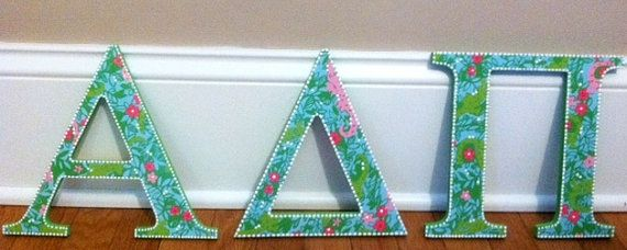 @Mary Tanner @Cortney Friess I thought these might interest you.  They have other lily letters you can pick from, too. They're listed as other sororities, but you can request ADPi.
