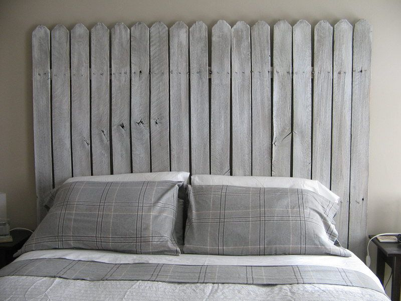 Home Made Headboard diy picket fence headboard | for the cabin | pinterest | picket