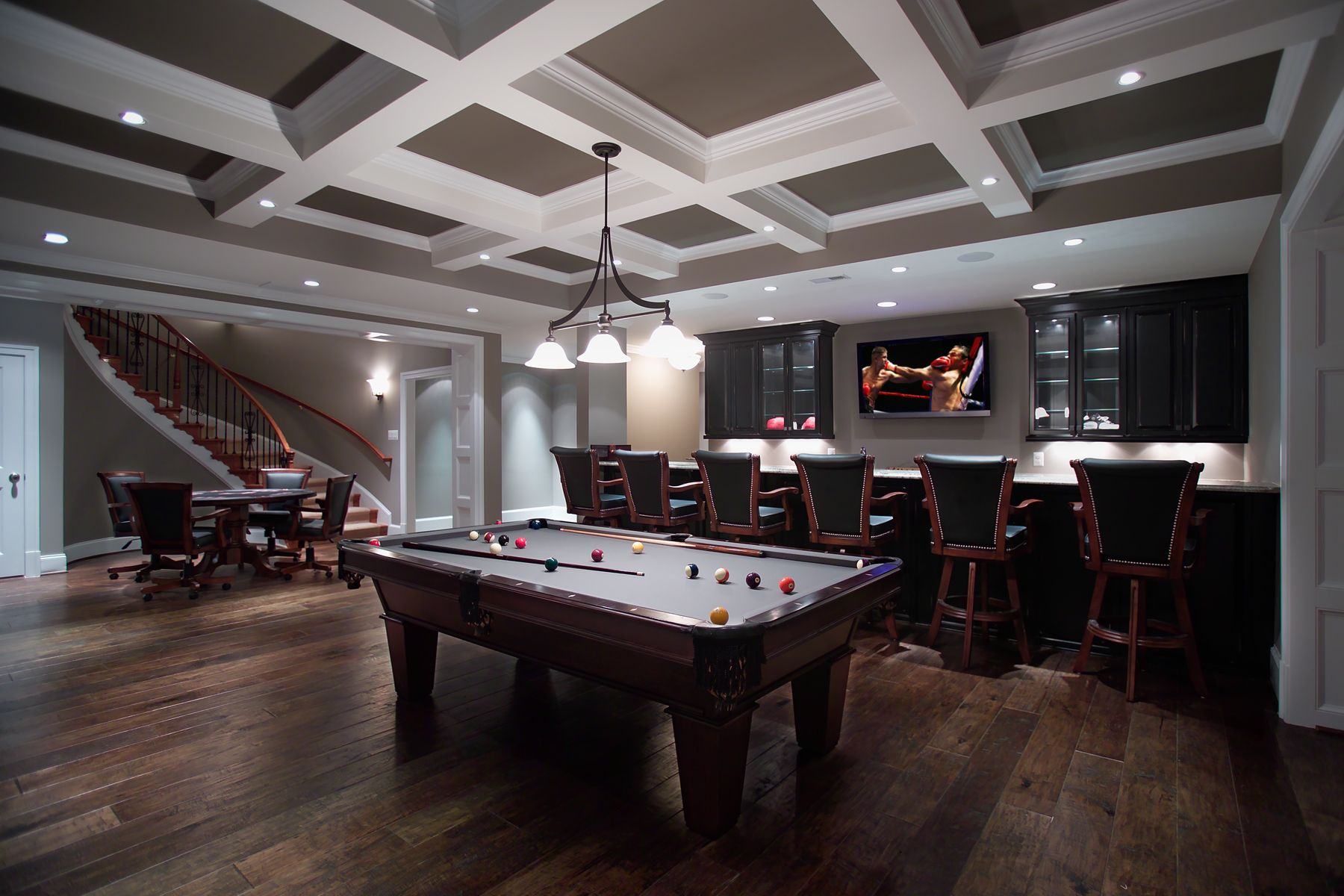 Games room in large basement remodel ellicott city md work by rule4 pinterest maison for Decoration maison games