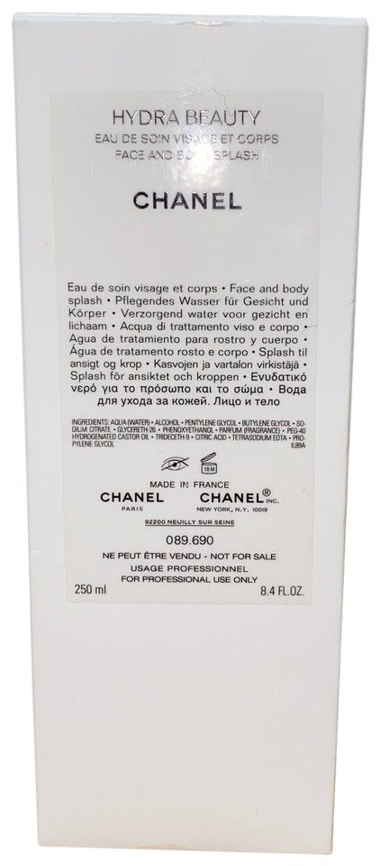 Chanel Face and Body Splash 250ml Fragrance