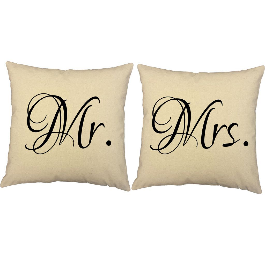 Mr and mrs throw pillows roomcraft bedsheets pinterest