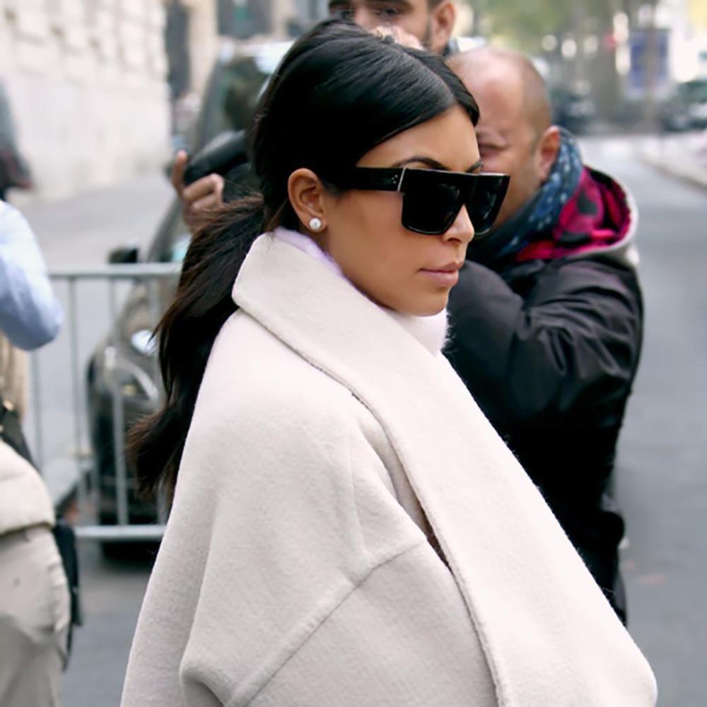 6036fb82a6667 RARE New POLARIZED CELINE ZZ-Top Black Kim Kardashian Sunglasses CL 41756  807 3H