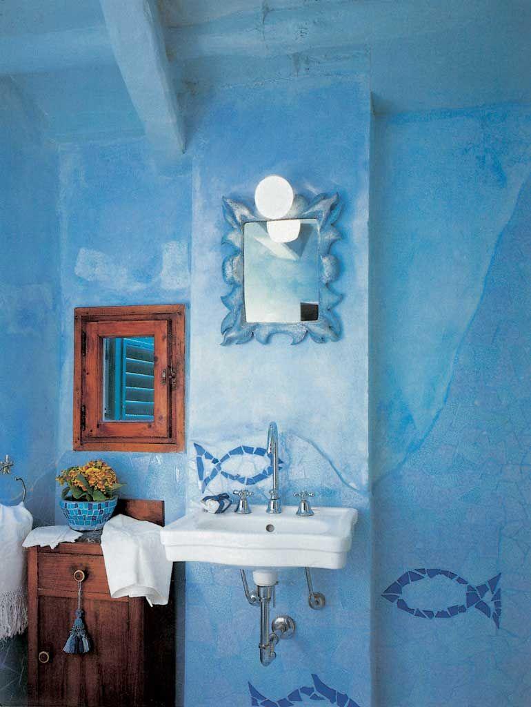 parete bagno malta di calce decorazione mosaico piastrelle gaudi